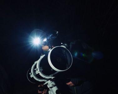 Stephen Rater en plein astro-bivouac