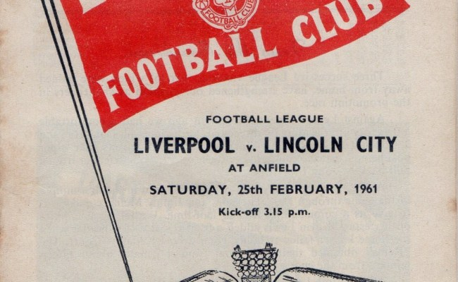 Matchdetails From Liverpool Lincoln City Played On Saturday 25 February 1961 Lfchistory