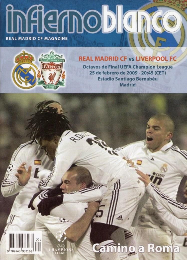 Liverpool Vs Real Madrid 2009 Lineup
