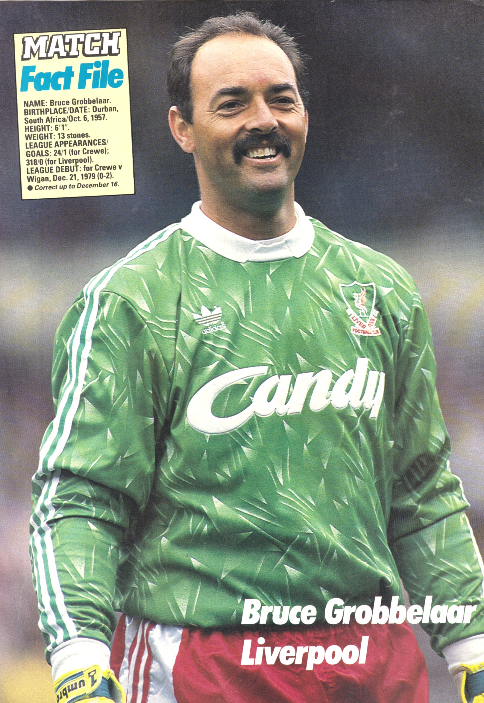 Liverpool career stats for Bruce Grobbelaar LFChistory Stats galore for Liverpool FC