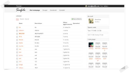 Seafile un servizio cloud open source simile a Dropbox e