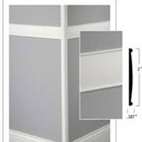 johnsonite chair rail white sashes wall base millwork systems designer profiles fishman fortis