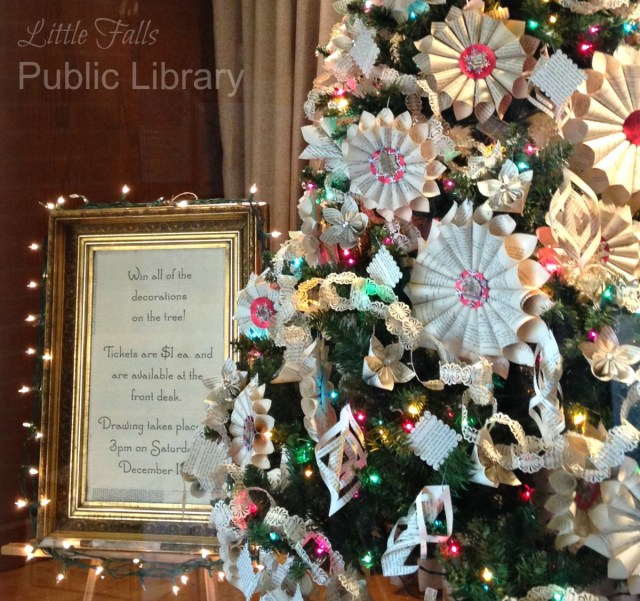 christmas raffle little falls public library - Library Christmas Decorations
