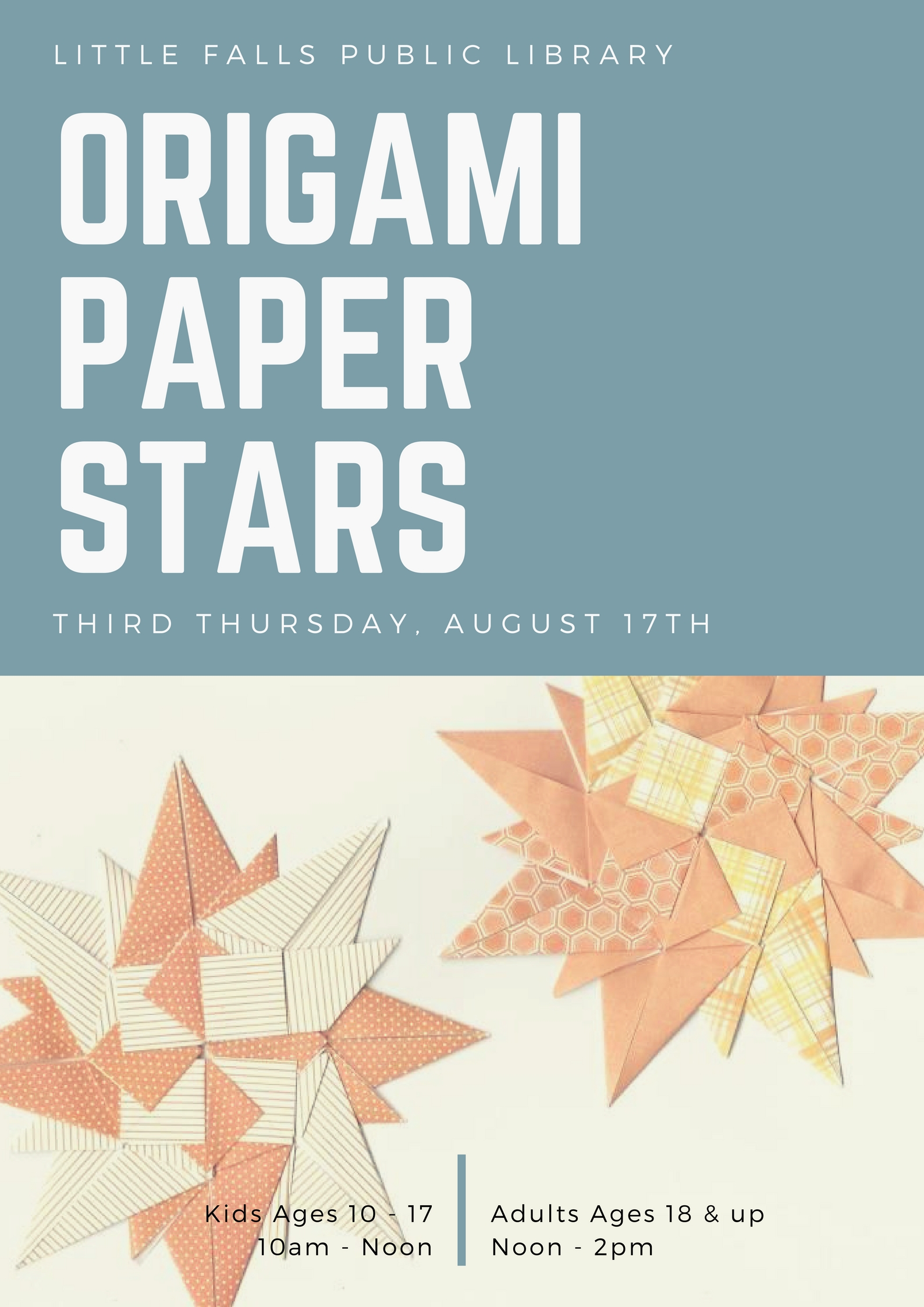 Origami paper stars 2 classes free august 17th sign up origami paper stars 2 classes free august 17th sign up required jeuxipadfo Gallery
