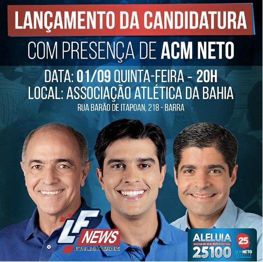 Portasl LF News Notícias Lauro de Freitas - Alexandre Aleluia lançamento da candidatura