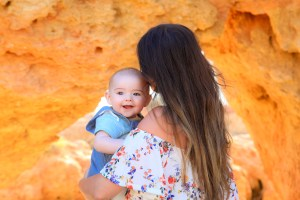 Mummy and baby in the Algarve