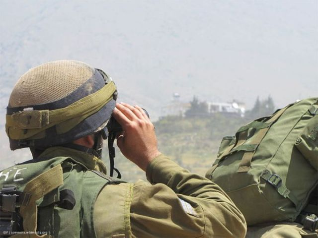 "IDF soldiers prepare for expected ""Naqsa Day"" riots in Majdal Shams near the Israeli-Syrian border. On May 15th of this year, hundreds of Syrian rioters infiltrated the Israeli-Syrian border into the village Majdal Shams, and in the center of the village violently rioted against IDF forces. IDF forces fired warning shots in order to deter the violent rioters from illegally infiltrating Israeli territory. on June 5 2011."