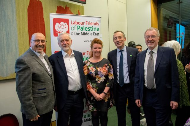 Labour Friends of Palestine Executive Committee members and previous Ambassador to Palestine, H.E Manuel Hassasian.