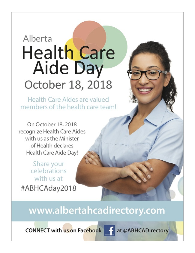 Health Care Aide Day  Oct 18