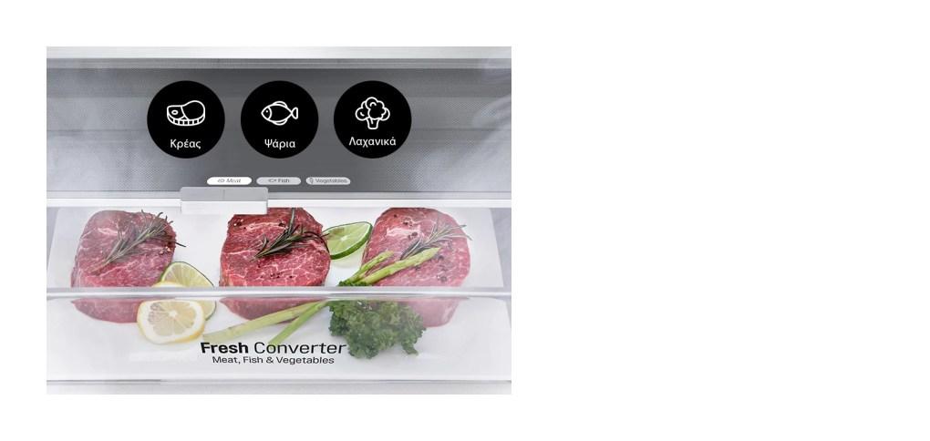 Select the optimal temperature per type of food1