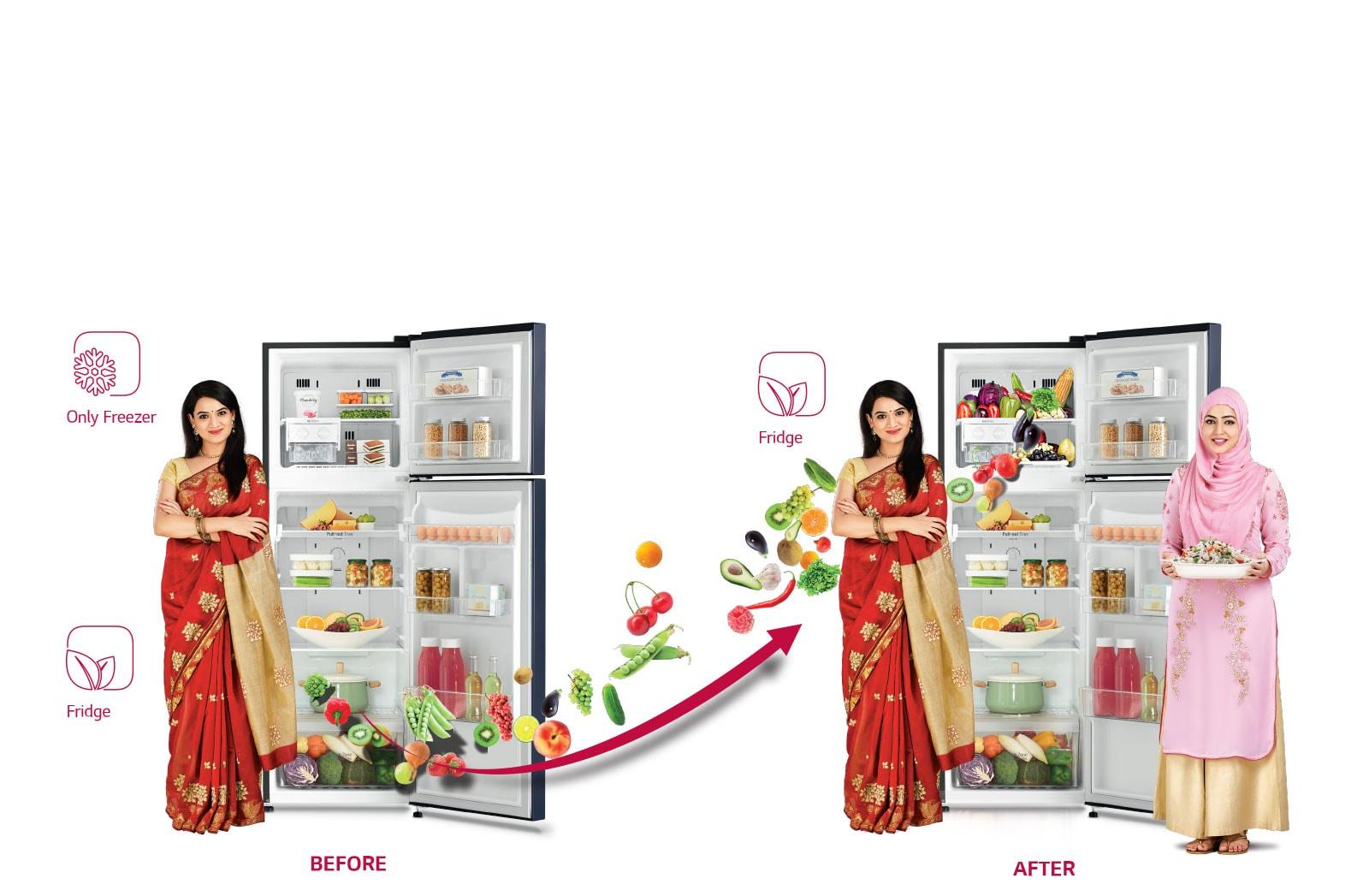 hight resolution of lg dual fridge