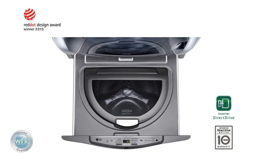 LG 3.5kg TWIN Load Mini Washer with Perfect solution for daily laundry, T2735NTWV