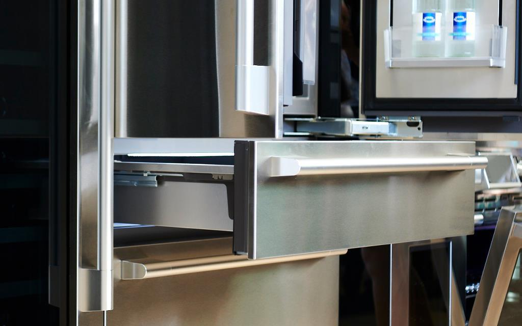 lg kitchen suite cabinets modern ifa 2018 luxury signature launches in europe the convertible drawer forms part of one refrigerators at