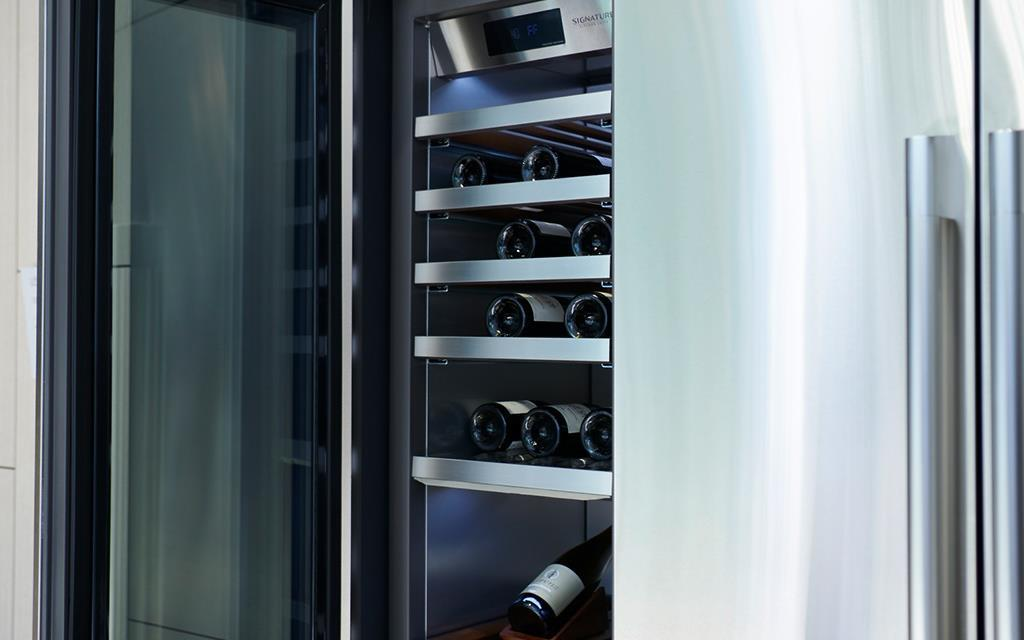 lg kitchen suite valances ifa 2018 luxury signature launches in europe a close up of the wine fridge at