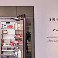 Lg Kitchen Suite Modern Cabinet Hardware Ifa 2018 Luxury Signature Launches In Europe A Close Up Of The Refrigerator Inside Exhibition