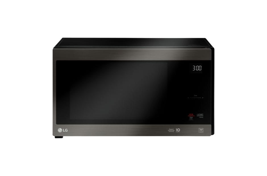 lg black stainless steel series 1 5 cu ft neochef countertop microwave with smart inverter and easyclean