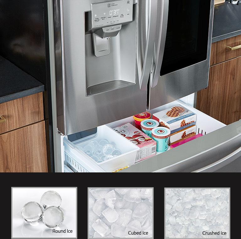 Lg Craft Ice Refrigerator Dual Ice Maker For Ice Balls Lg Usa