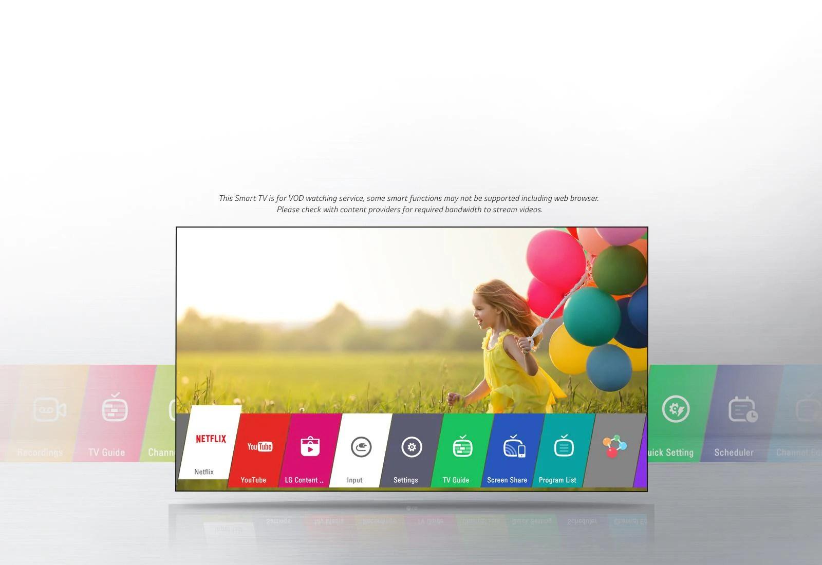 hight resolution of lg smart tv