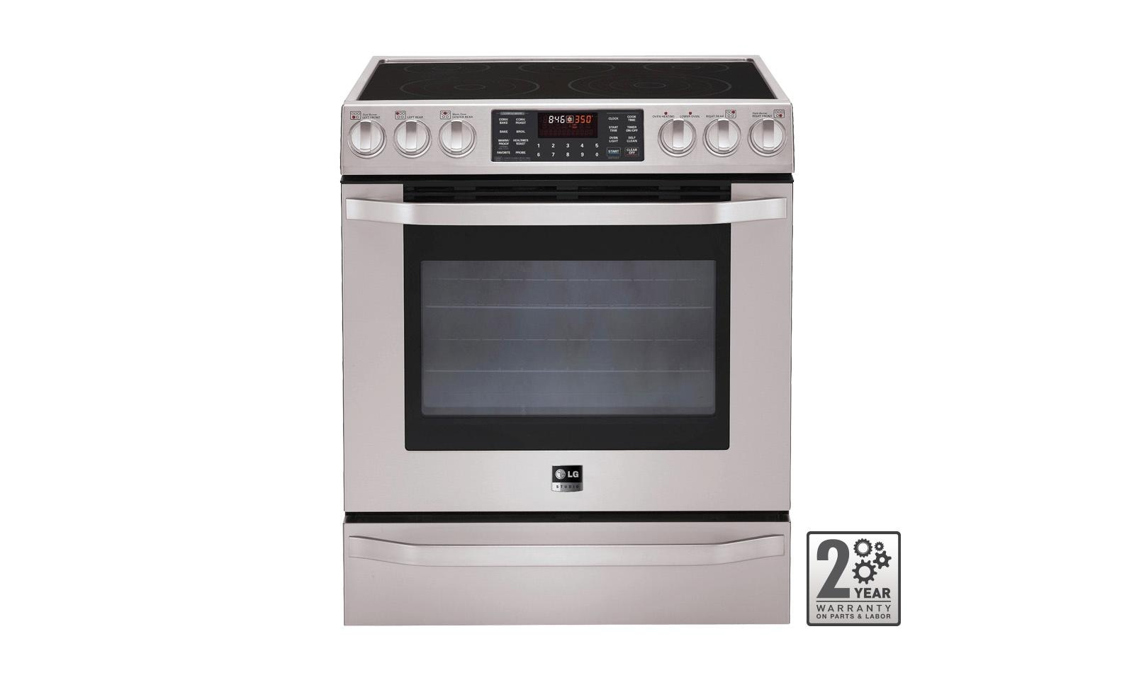 lg kitchen appliances table decorations lses302st studio electric oven range with