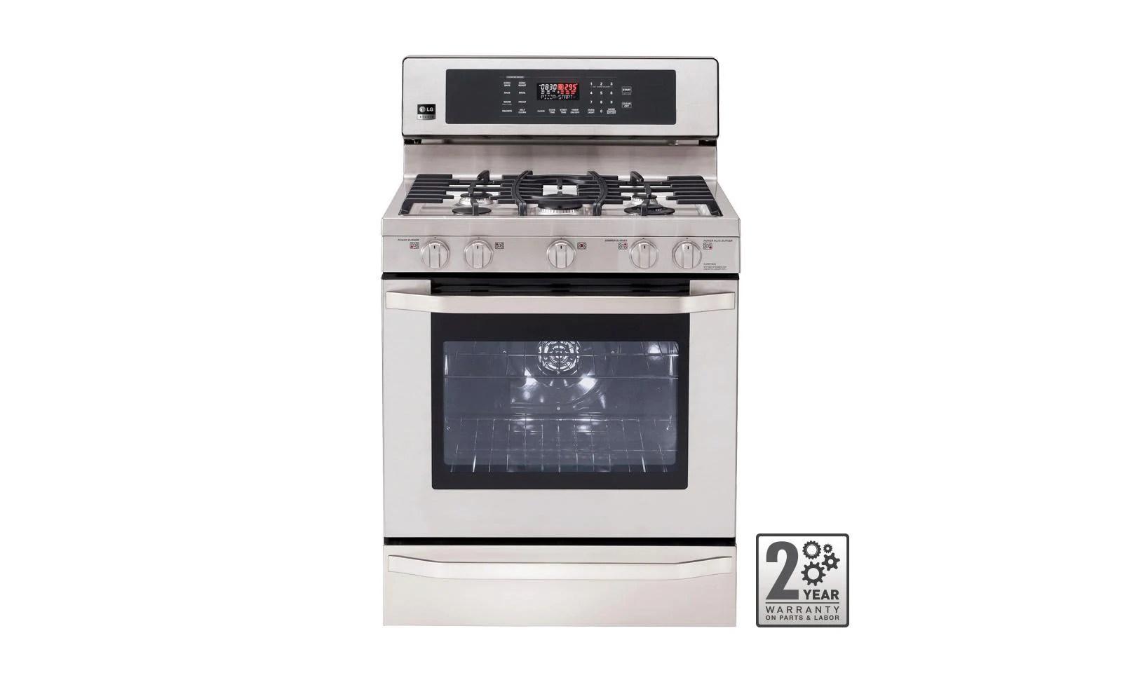 lg kitchen appliances ladders lsrg309st studio gas single oven range with
