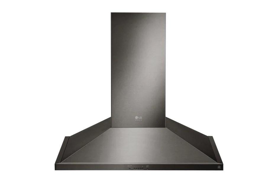 kitchen appliance suite pacific fan lg lshd3689bd: studio 36 inch wall mount range hood ...