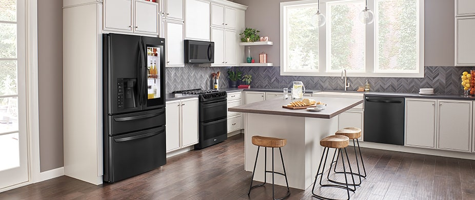 lg kitchen appliances outlets premier appliance finishes usa matte black stainless steel