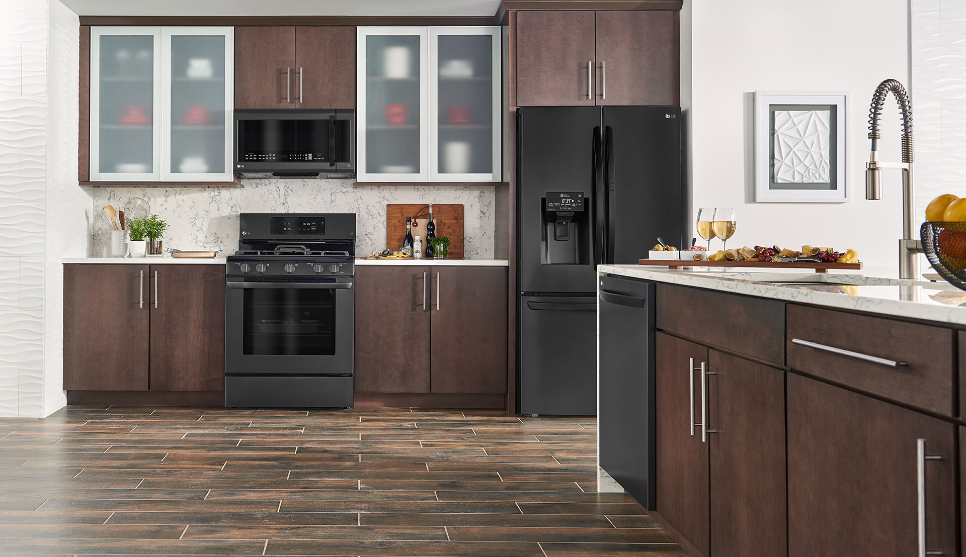 black stainless steel kitchen play ikea lg matte embrace the dark side us