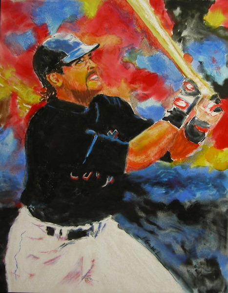 """© 2015 Laura Gabel, """"Batter Up"""". Private collection"""