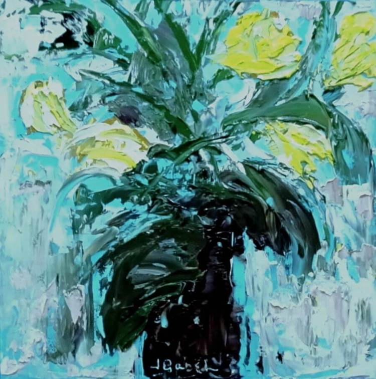 pallet knife (yellow palette posies)