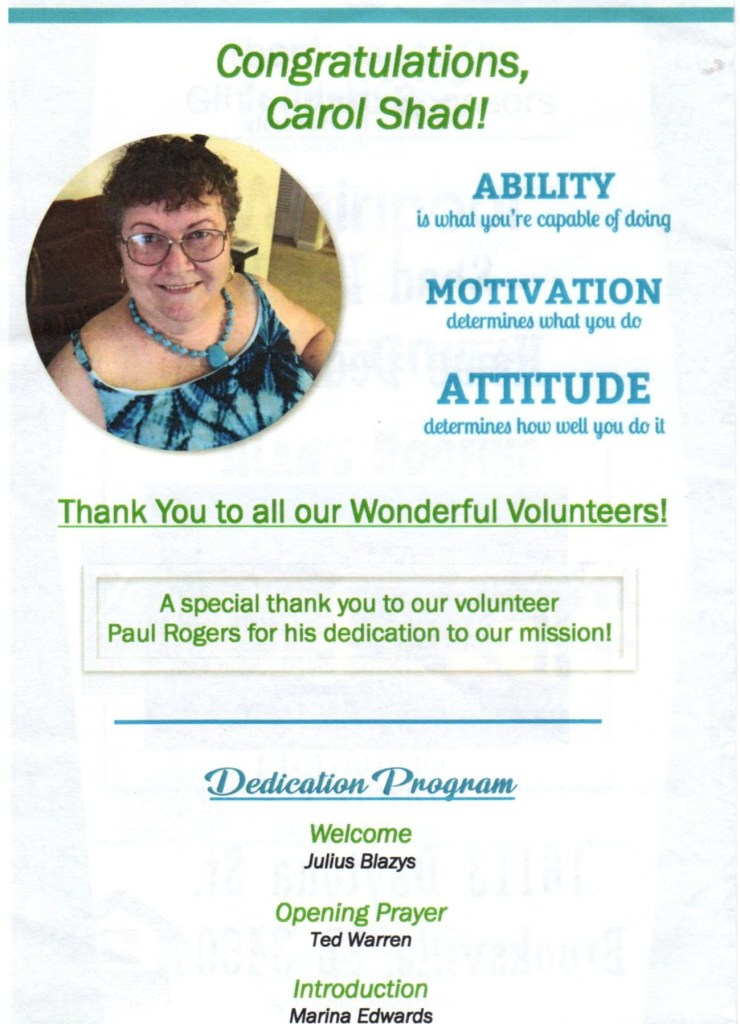 gratitude, habitat for humanity dedication flyer
