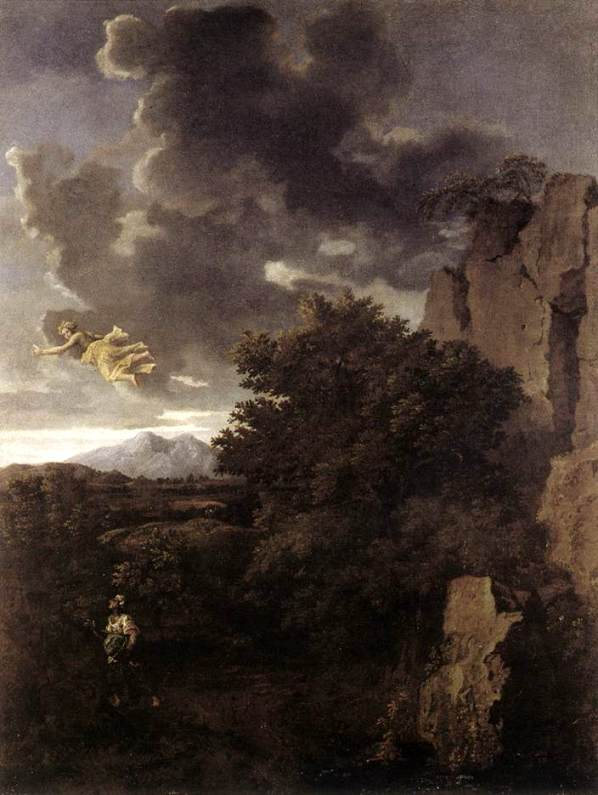 Do you have a vision problem? 'Hagar and the Angel', Nicolas Poussin, 1660