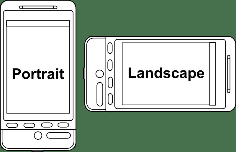 smartphone portrait vs landscape orientation