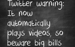 Twitter warning: It now automatically plays videos, so beware big bills