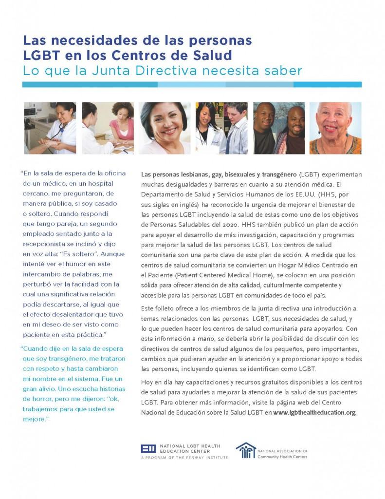 Las Necesidades De Las Personas Lgbt En Los Centros De Salud Lo Que La  Junta Directiva