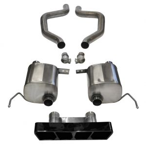 corsa extreme axle back exhaust system black poly tip