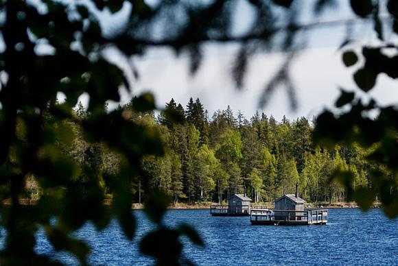 Flottar på Nydalasjön - Fotograf Lars-Göran Norlin