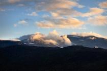 Fjäll med moln © Fotograf Lars-Göran Norlin