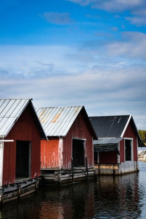 Båtskjul i Brändö hamn