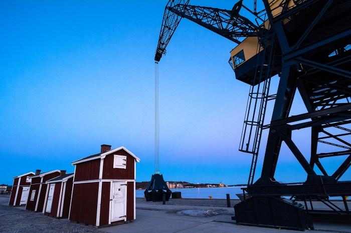 Södra hamn, Luleå, 6 april 2014.
