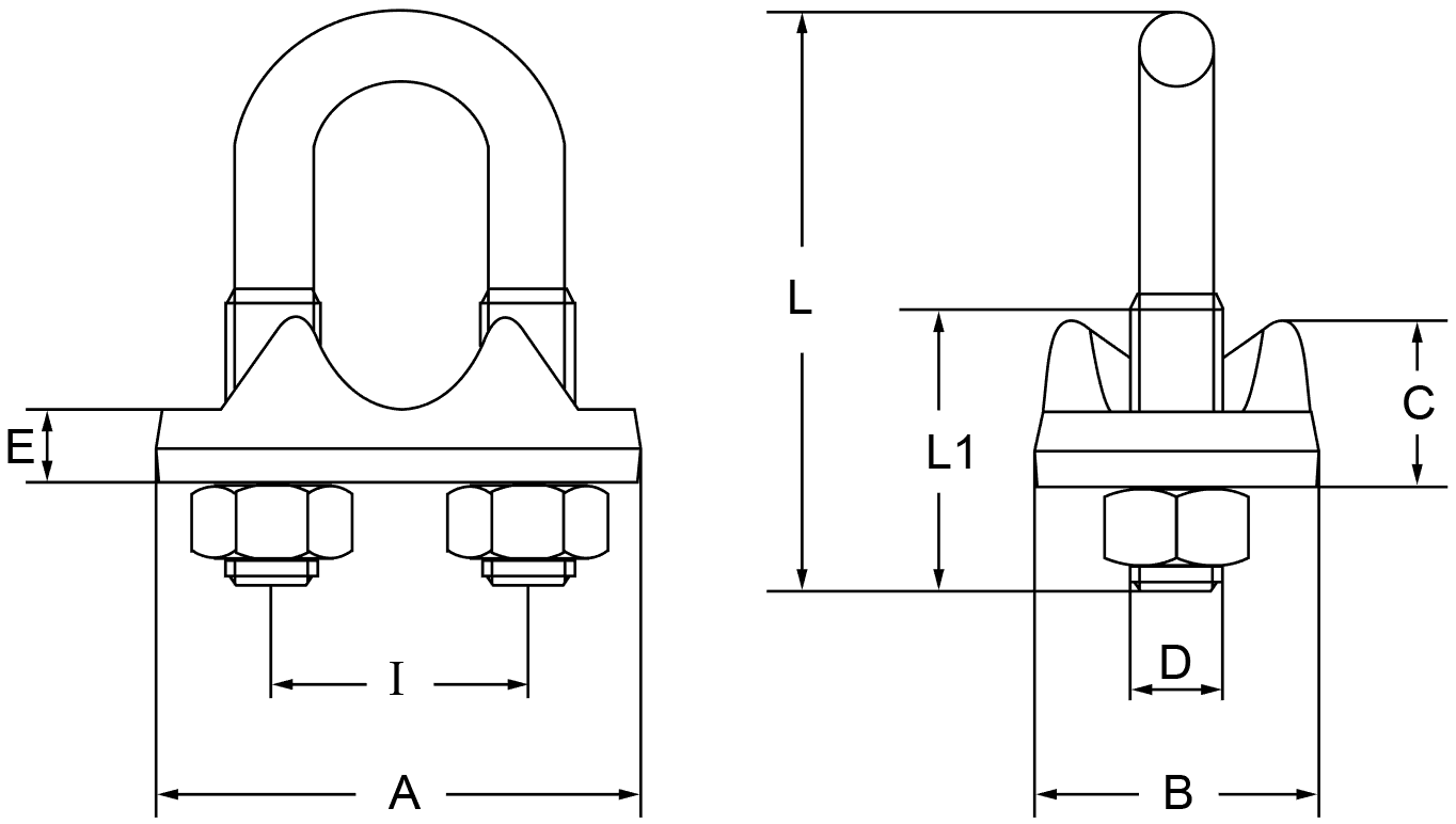 Italian Type Drop Forged Wire Rope Clips