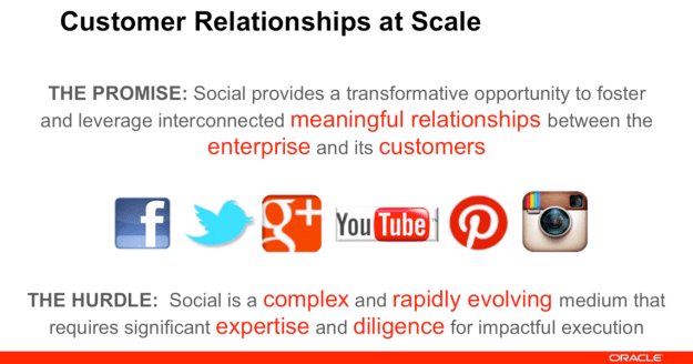 Oracle/Social - meaningful relationships