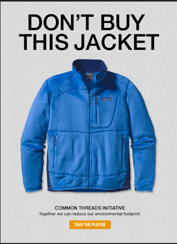 Patagonia Don´t buy this jacket