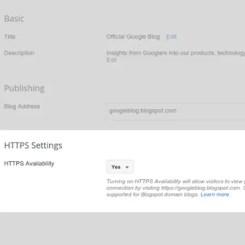 HTTPS Blogspot