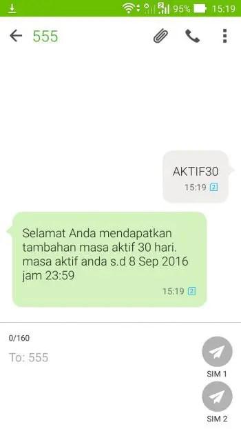 Masa Aktif Indosat