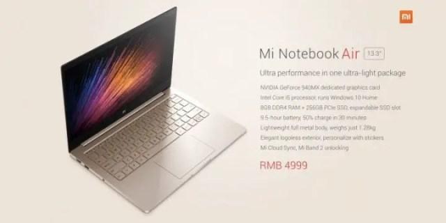 Mi Notebook Air 13,3 Inci