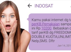 Pulsa Indosat Terpotong