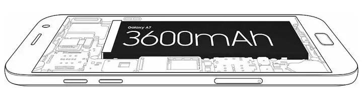 Samsung Galaxy A7 2017 - Baterai