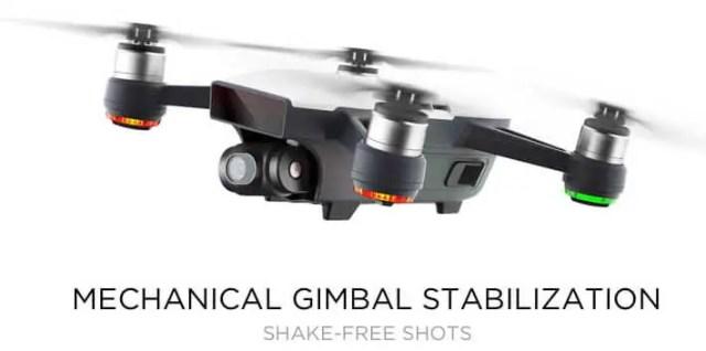 DJI spark gimbal-stabilization