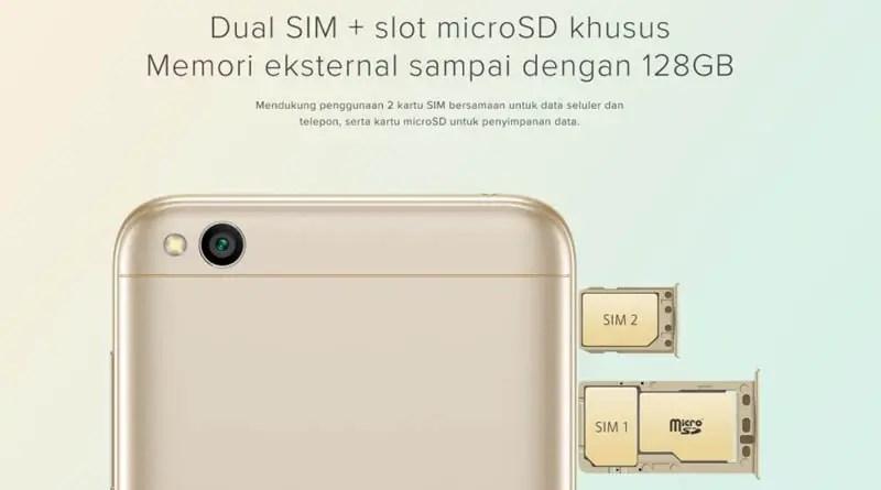 Xiaomi Redmi 5A - SIM
