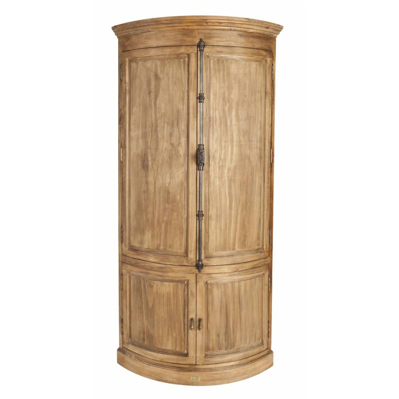 encoignure de kercoet meuble d angle de coin armoire de rangement en acacia massif et